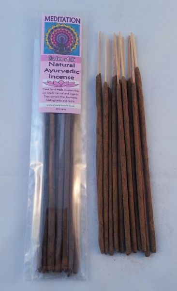 Meditation - Natural Ayurvedic Healing Incense Sticks - Halmaddi - 20 grams